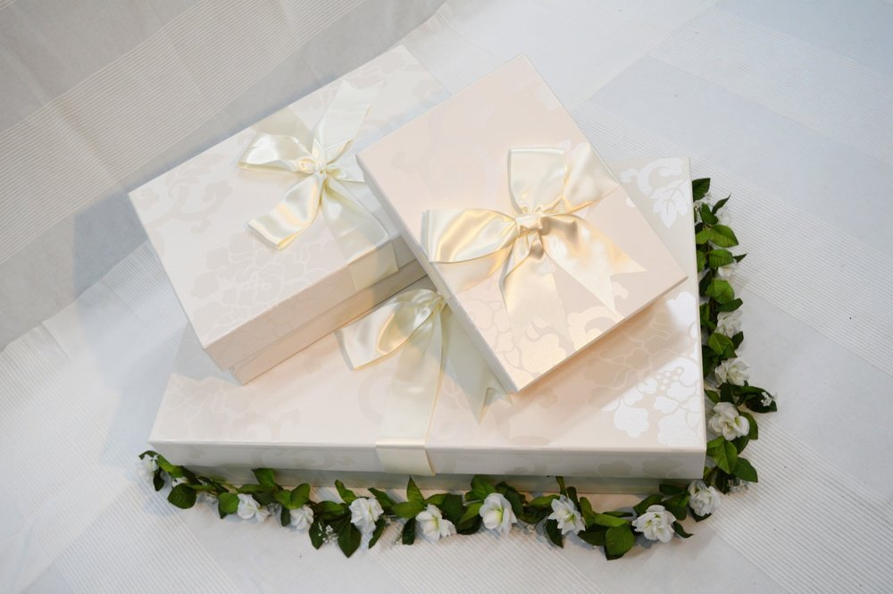 Our boxes provide a safe and protective environment in which to store your wedding dress and are available in various sizes.