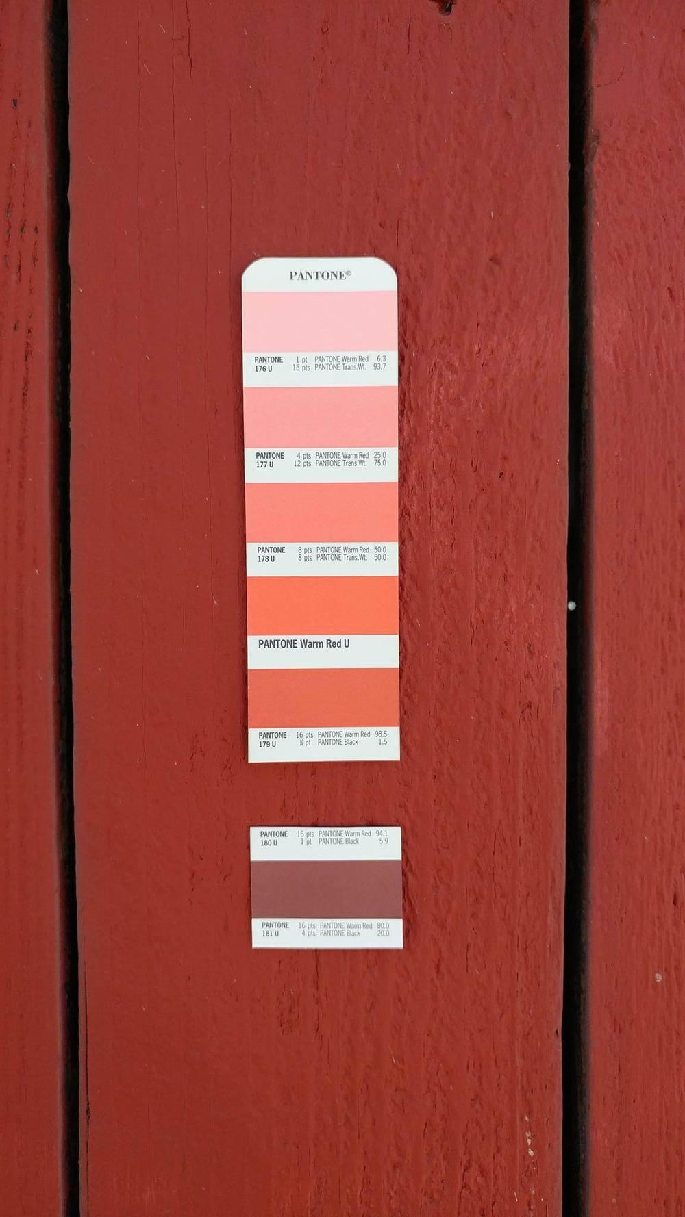 Pantone 180U / Wood Fence