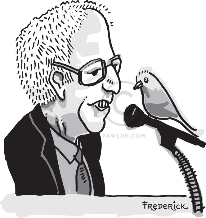 Politician Bernie Sanders & Birdy