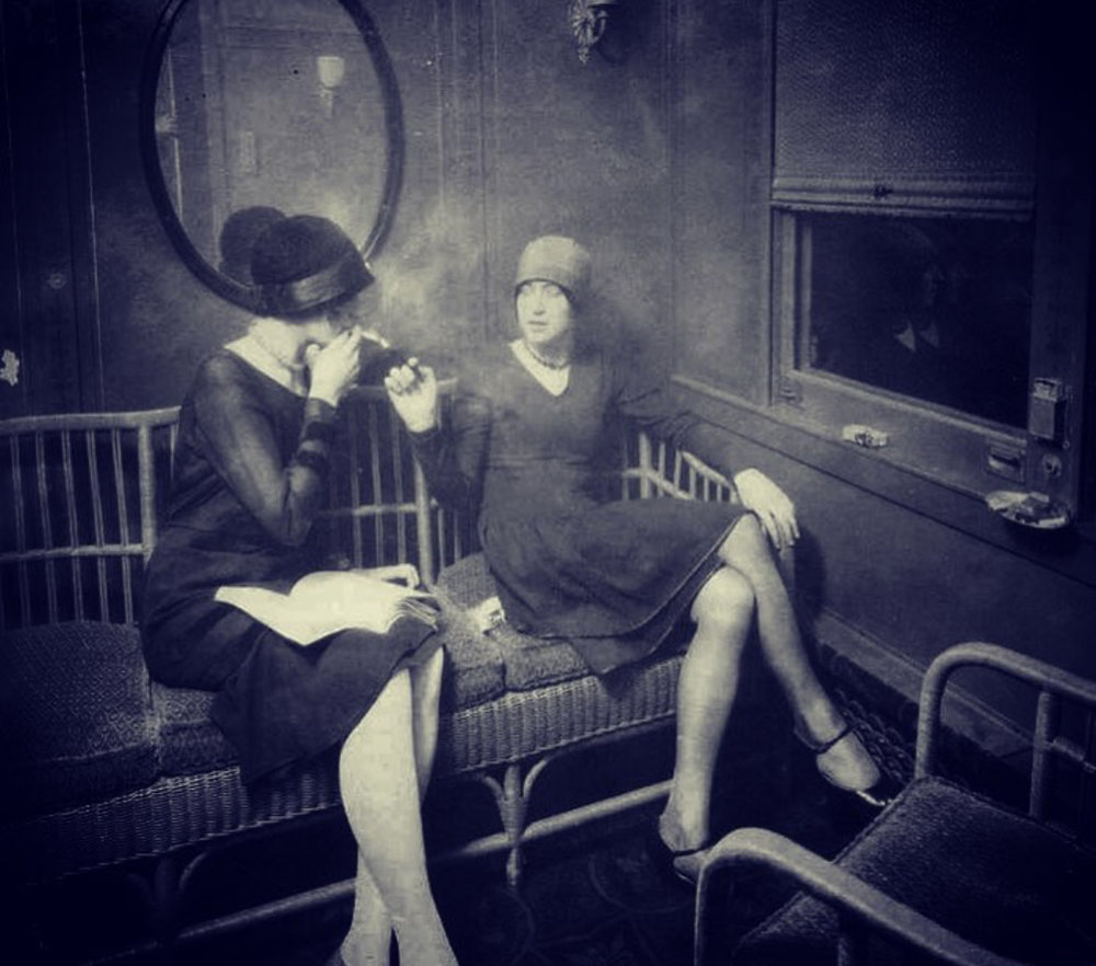 Two Flappers on a train.jpg