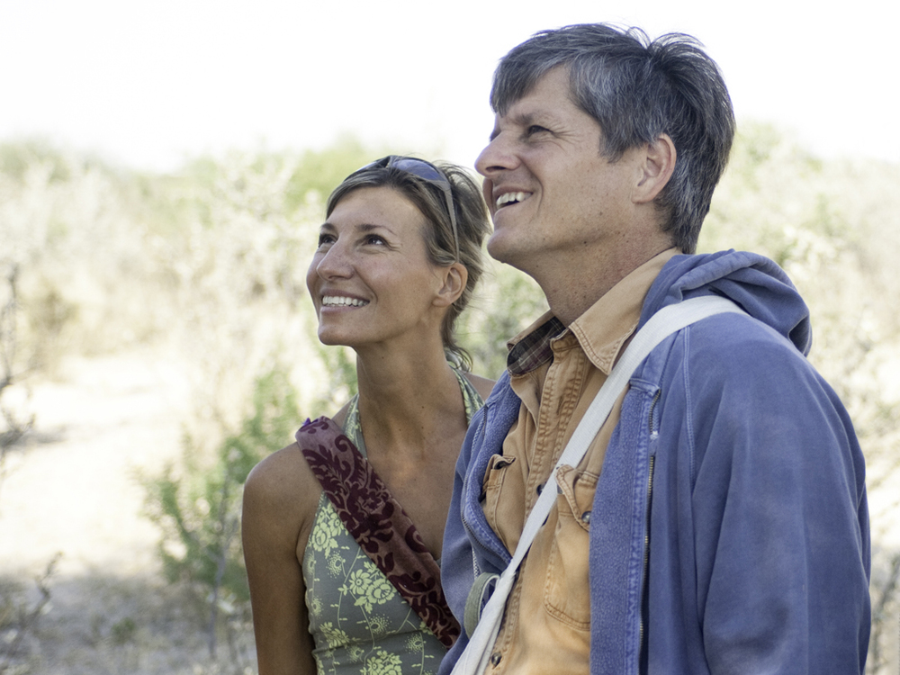 Jon and Nicole in the Kalahari Desert, Botswana