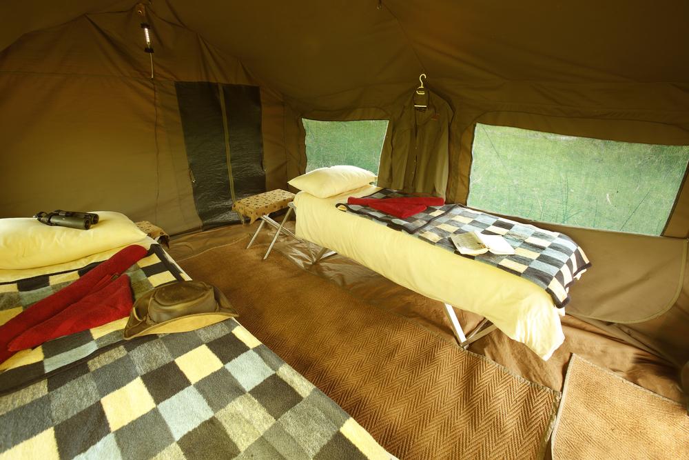 african safari tent interior en-suite bathroom