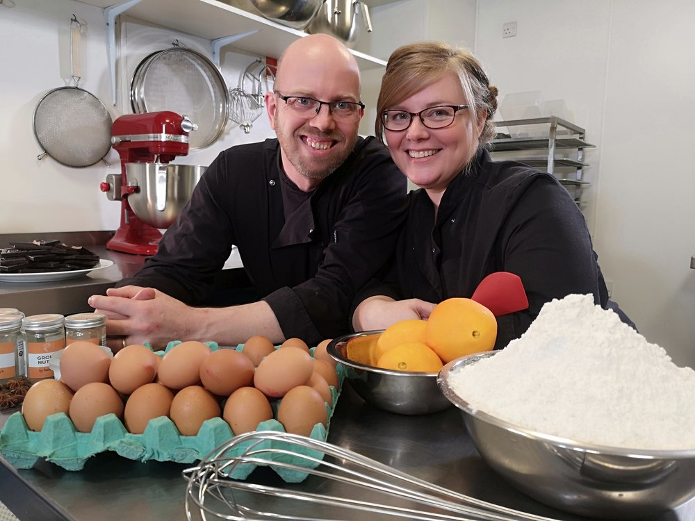 Phil_and_christine_jensen_peboryon_in_the_kitchen
