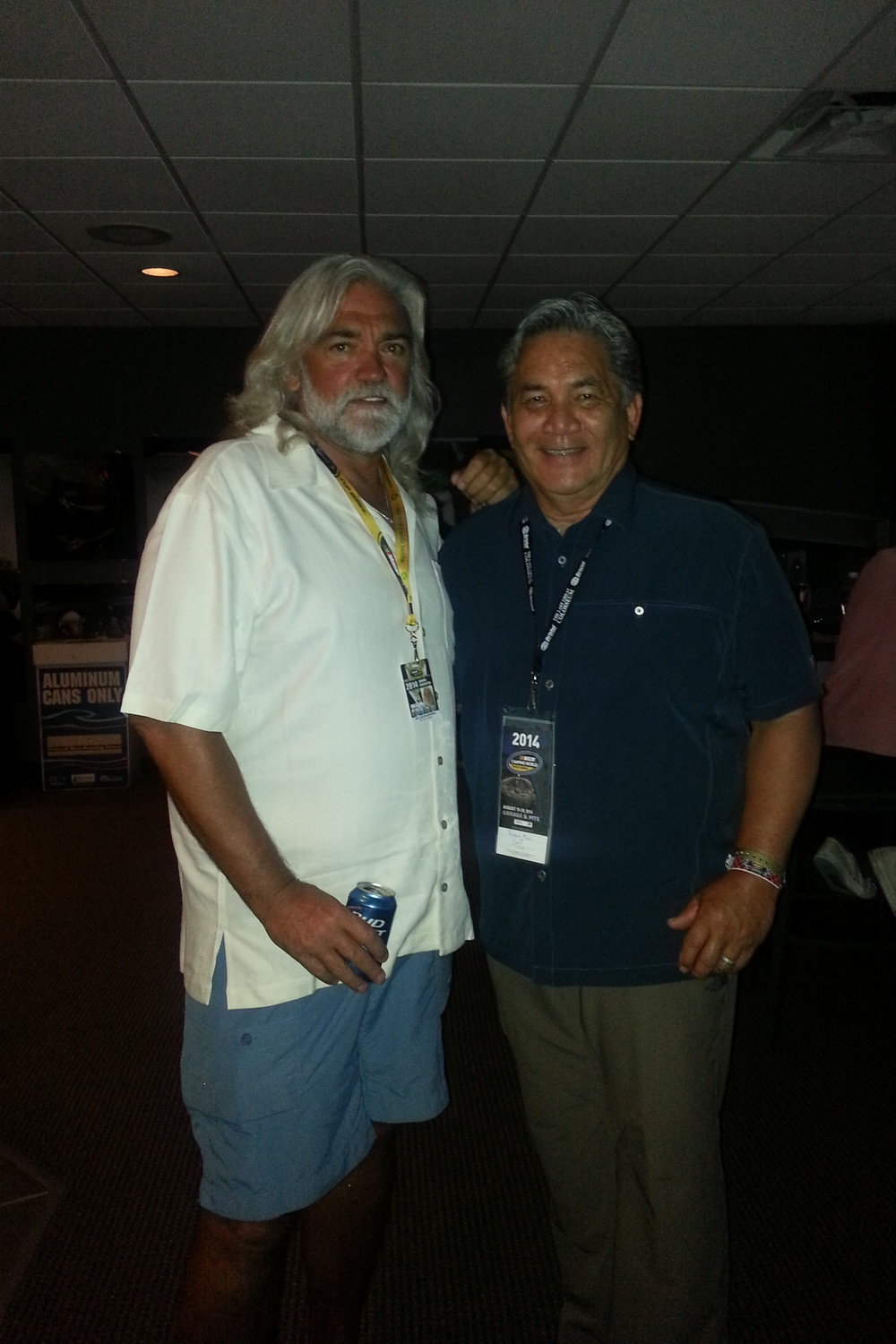 "Richard with reality television star, ""Captain Wild Bill "" Wichrowski"