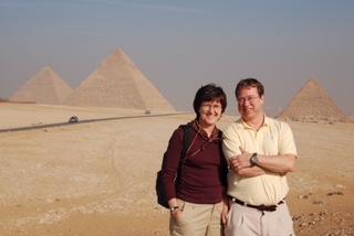 Sharon and Bob on a trip to Egypt.