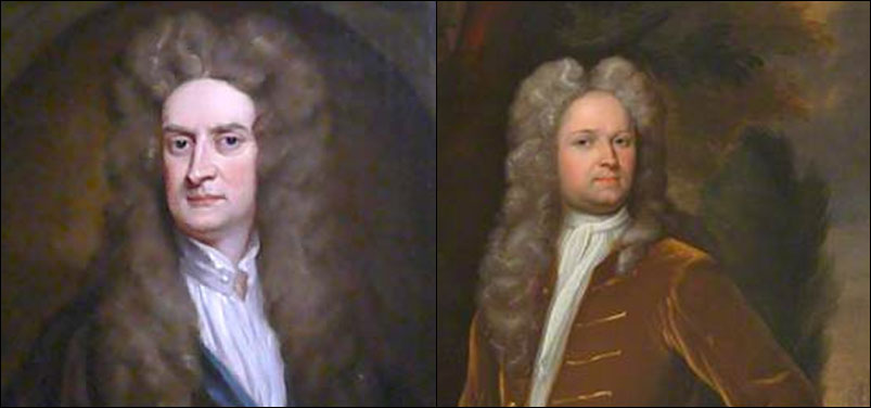 Newton (left) and 'fanboy' Stukely