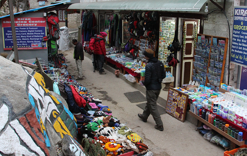 Shopping at Namche