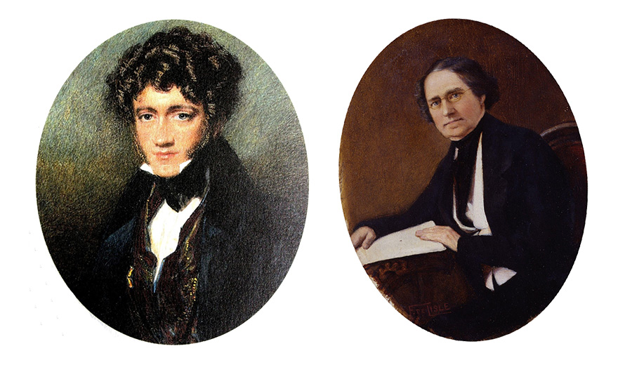 Was Herschel (left) mocking Lardner (right)?
