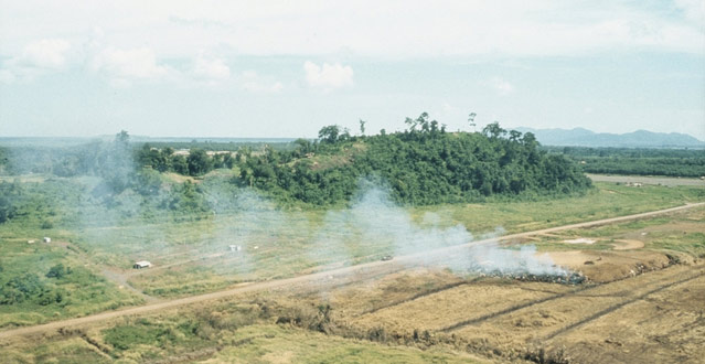 Nui Dat's SAS Hill in 1971 (image: Australian War Memorial)