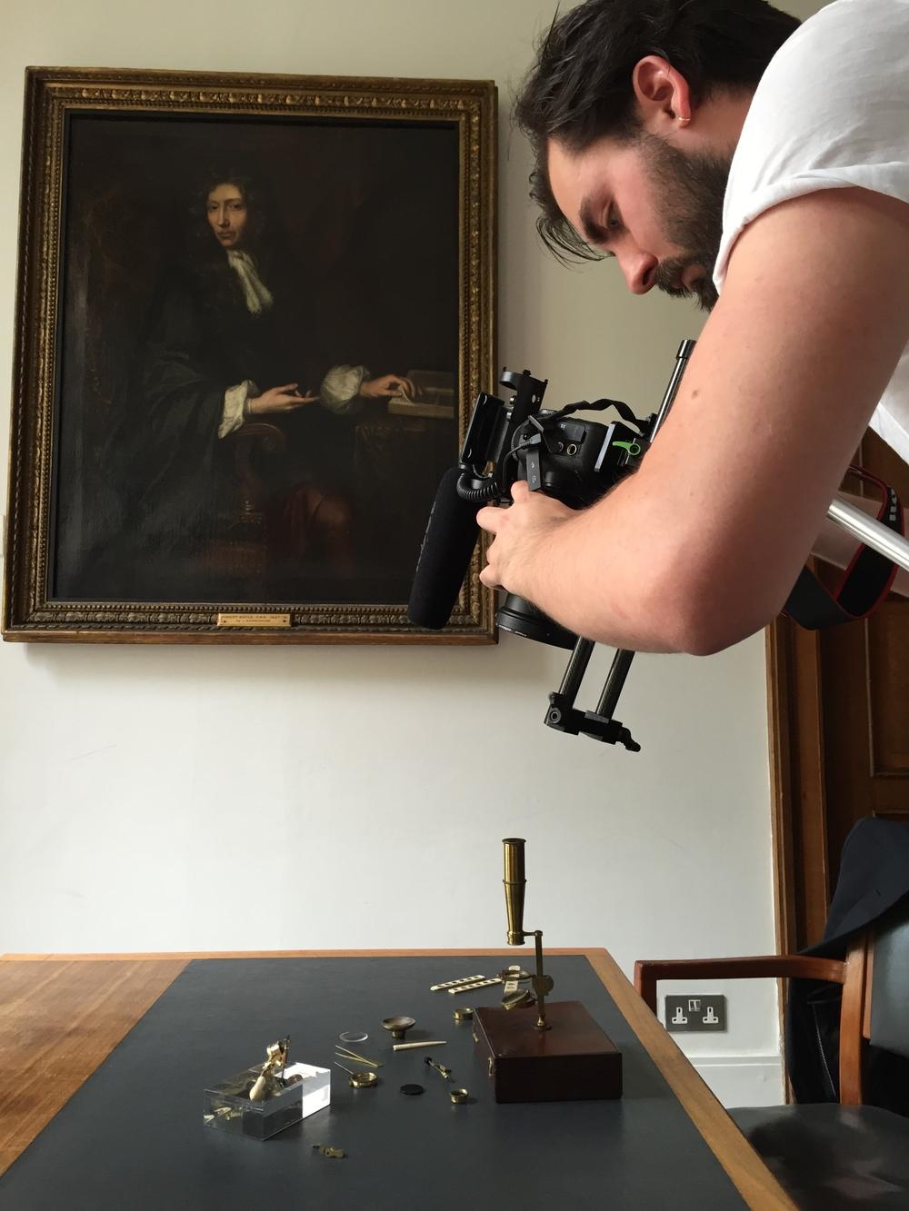 James films, Robert Boyle looks on