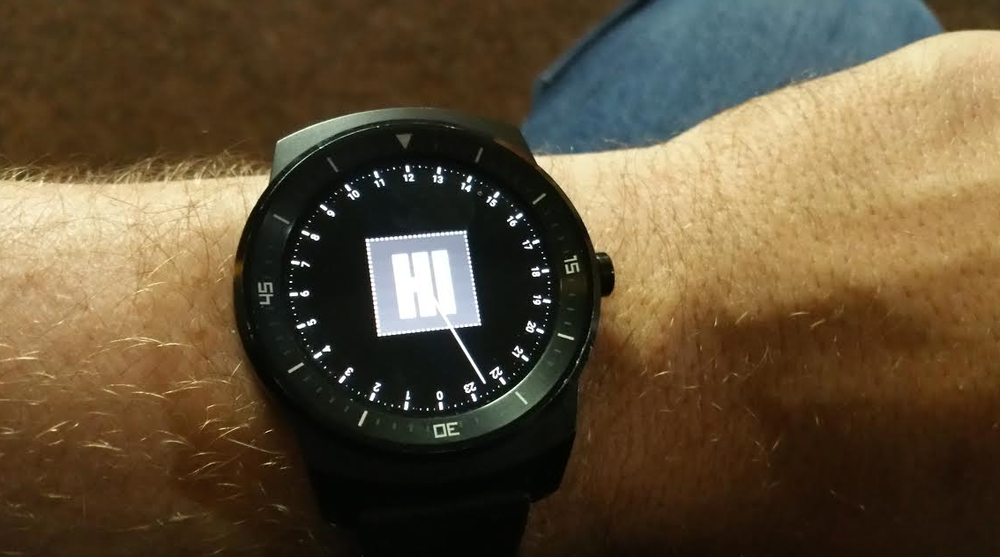 Alan made a custom watch face