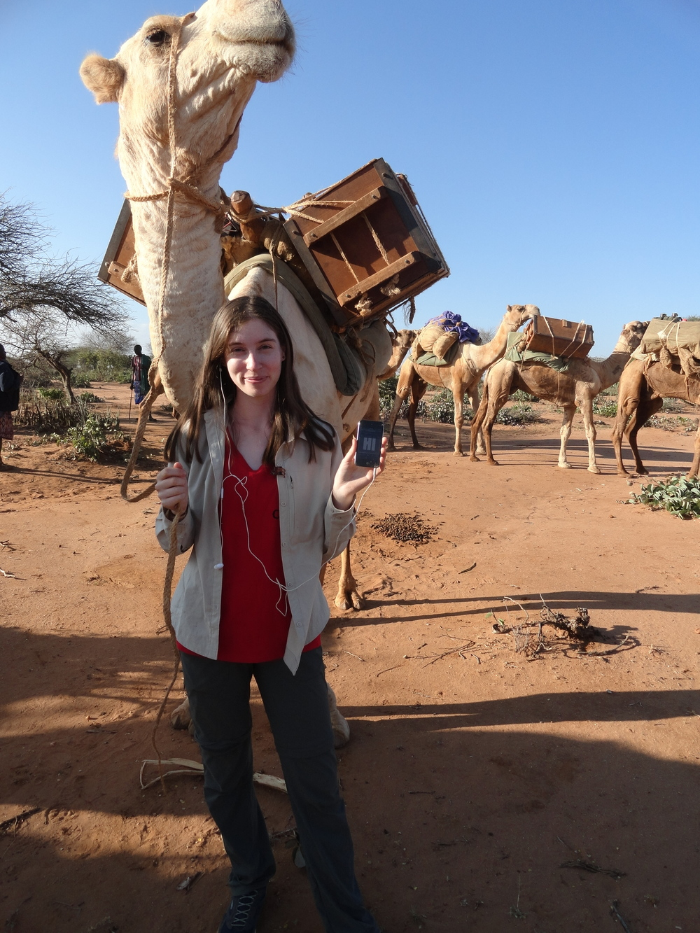 Dayna listened on a trek through the Kenyan desert