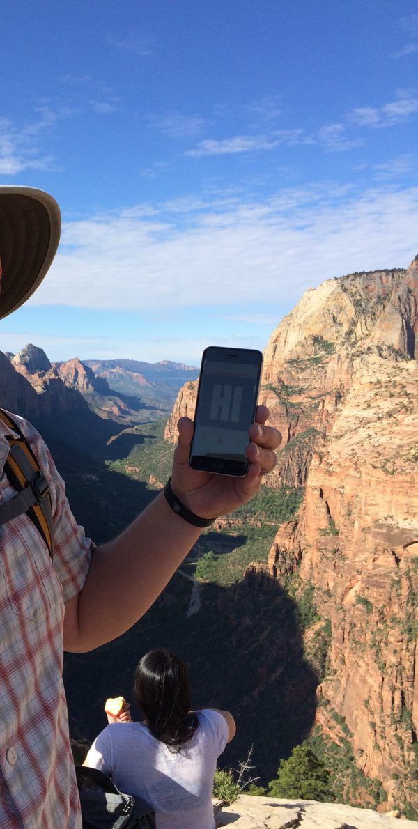 Dovan at Angel's Landing