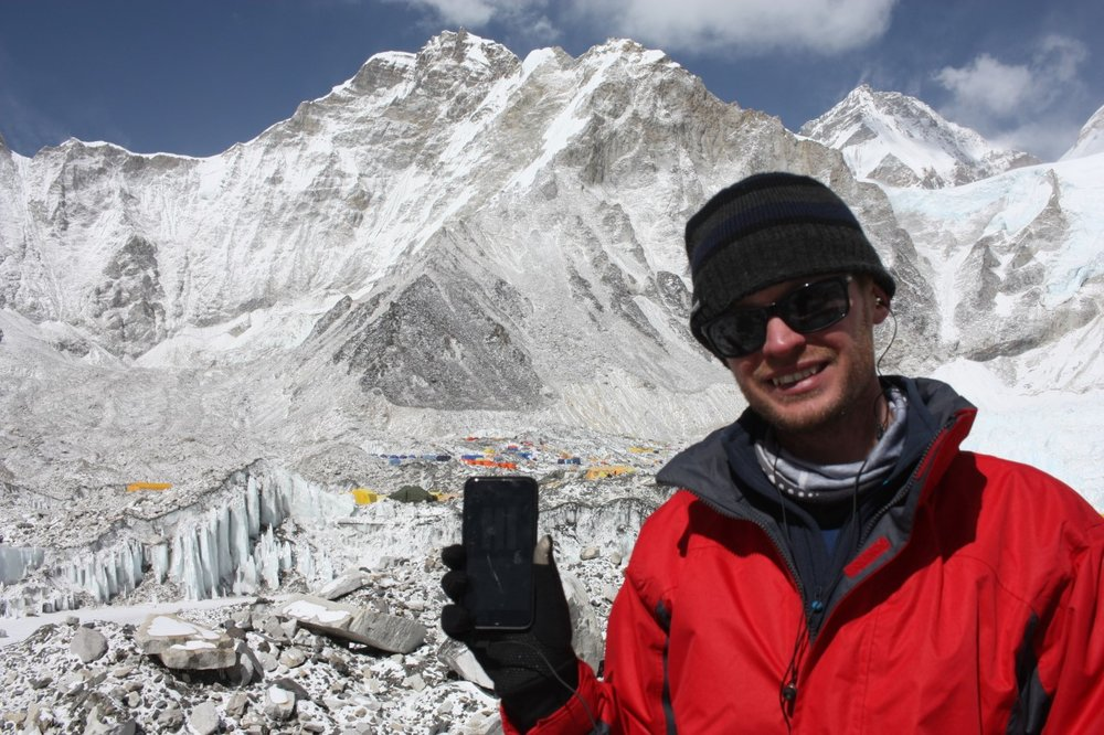 Kevin at Everest Base Camp