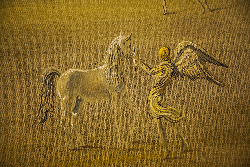 Detail of a Dali painting in the Vatican museum