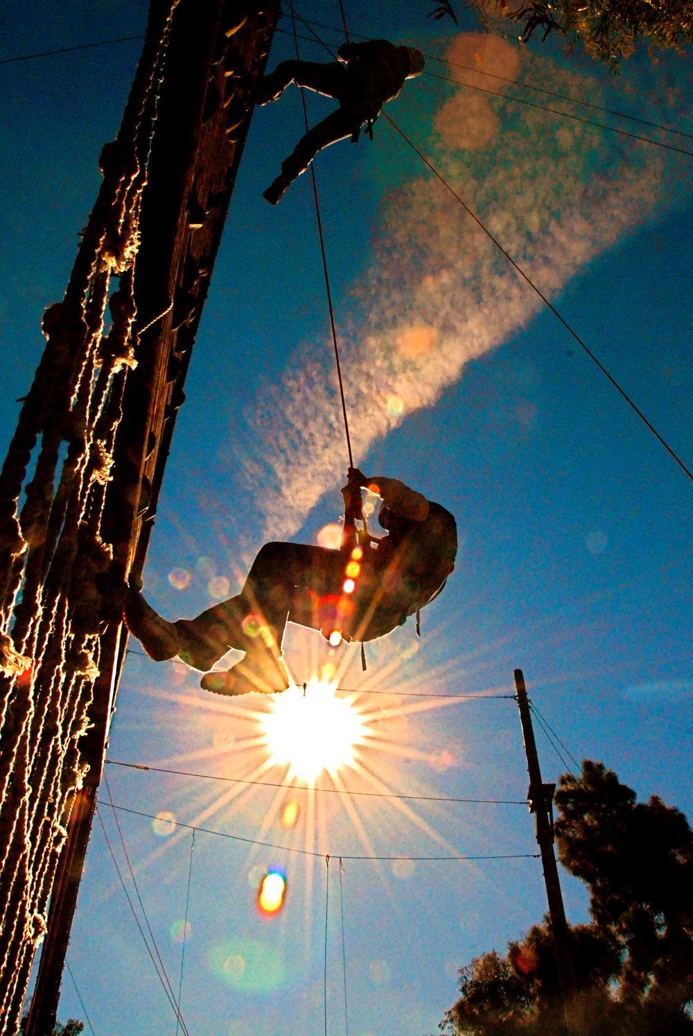 Culver City Silhoutte Rappeling.JPG