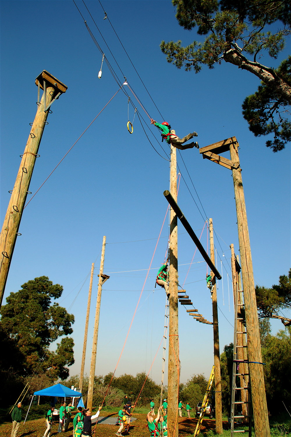 Fulcrum Team Building,ropes course at Culver City.JPG