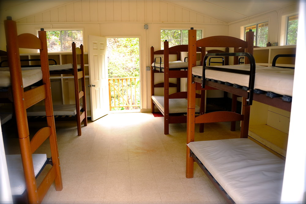 Camp Hess Kramer inside cabins bunks.JPG