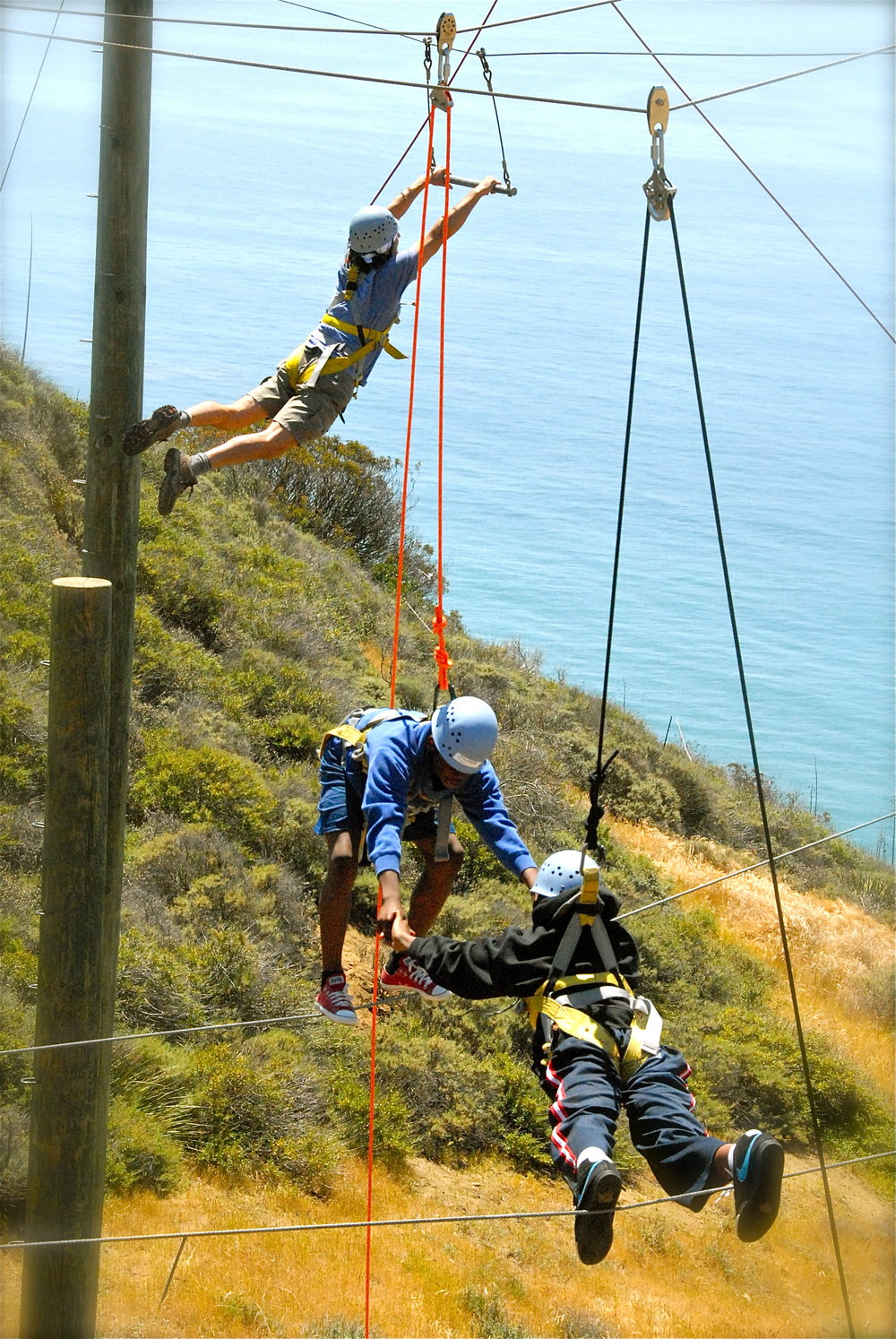 Gindling Hilltop youth ropes course dual events.jpg