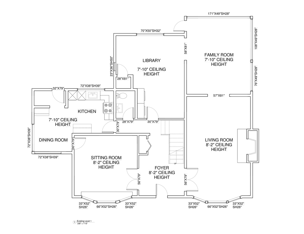 EXISTING MAIN FLOOR PLAN