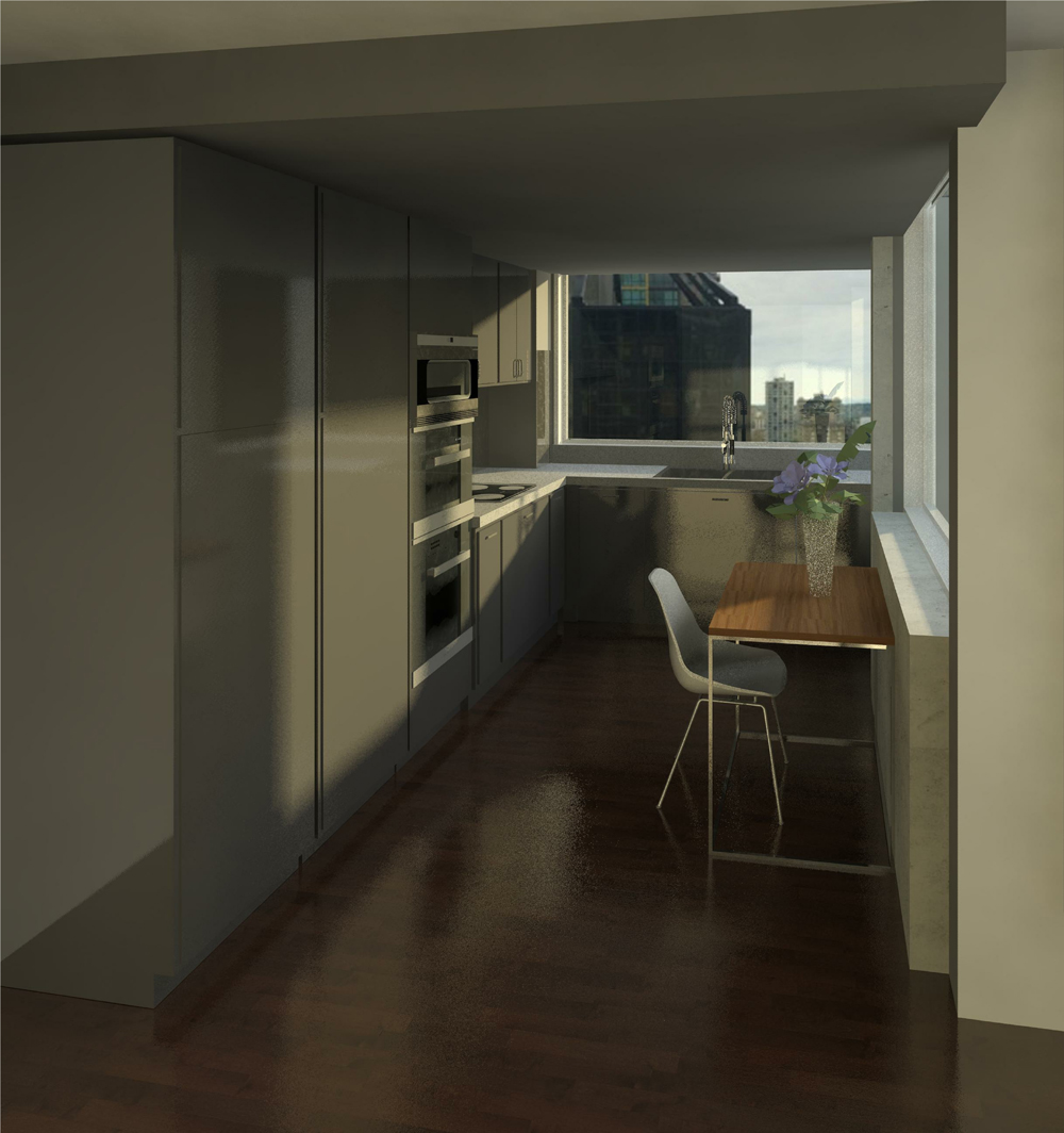 3D Render Image of the new kitchen