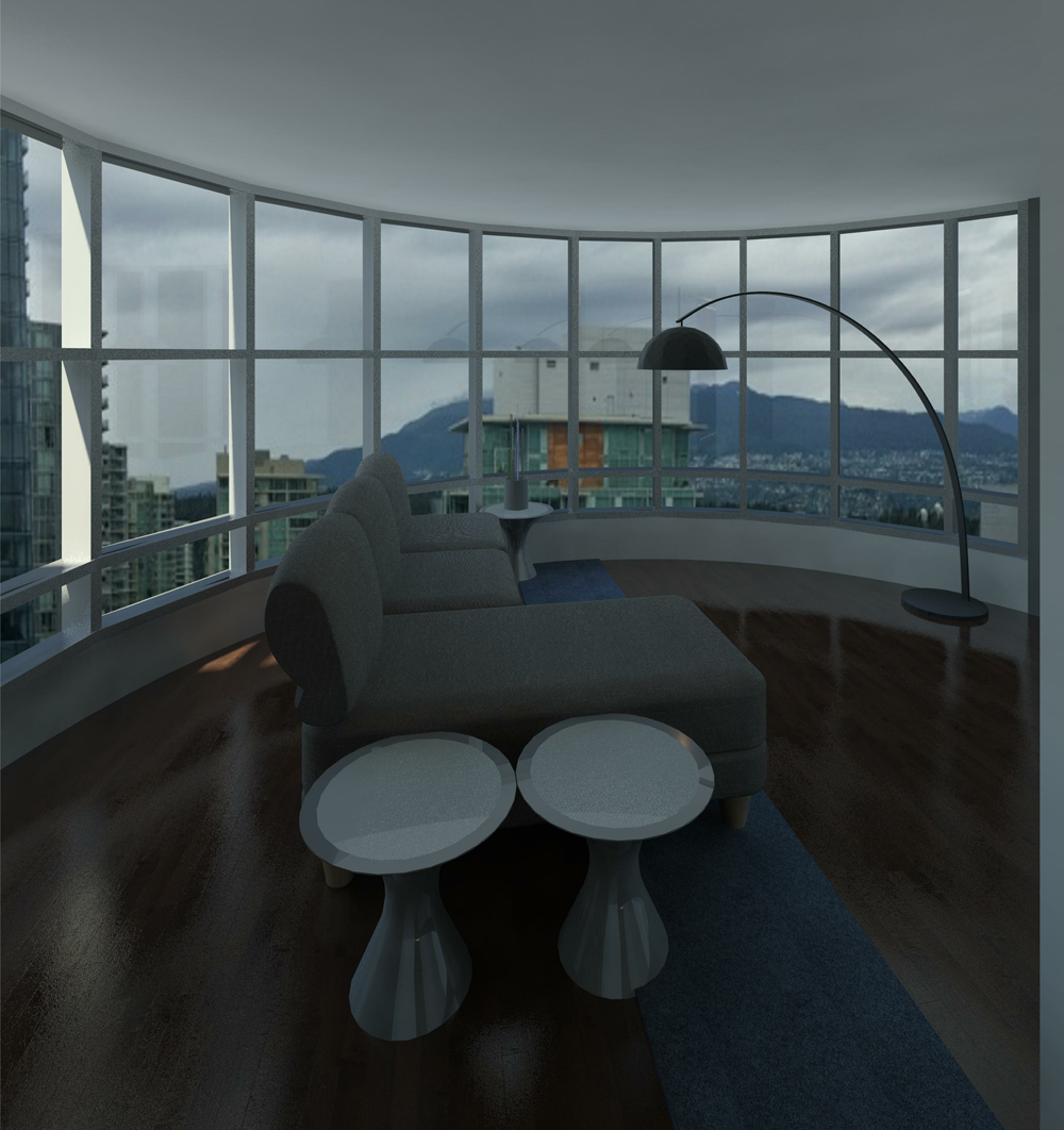 3D Render Image of the new living room