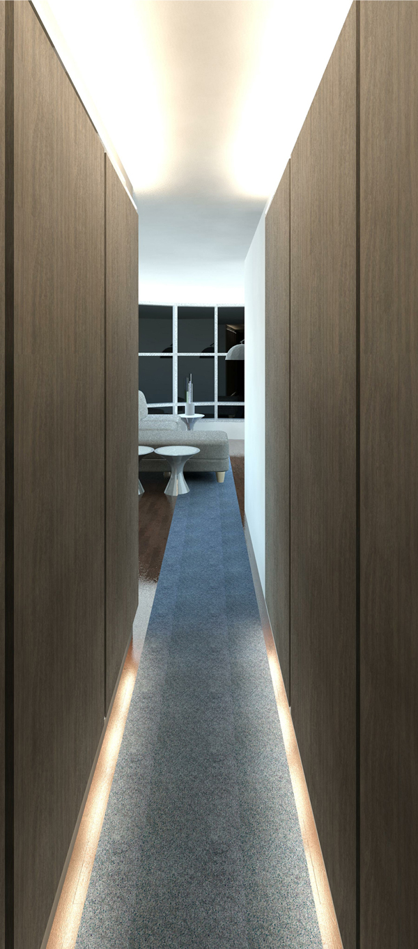 3D Render Image of the new hallway