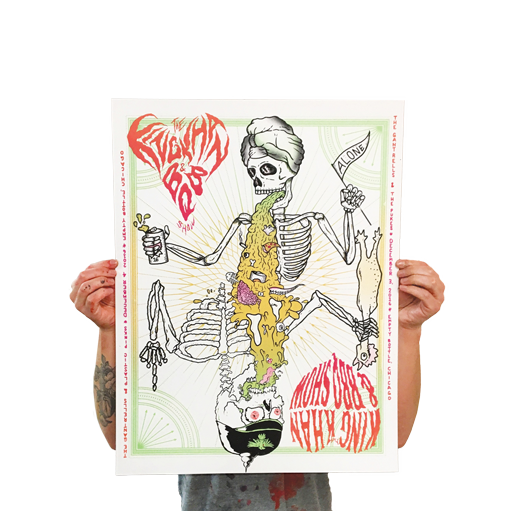 King Khan & BBQ Show Gig Poster - $20.00