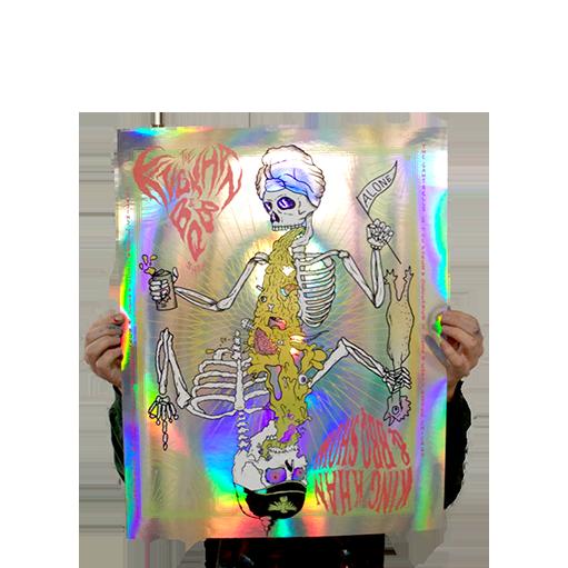 King Khan & BBQ Show Gig Poster, Foil Variant - $50.00
