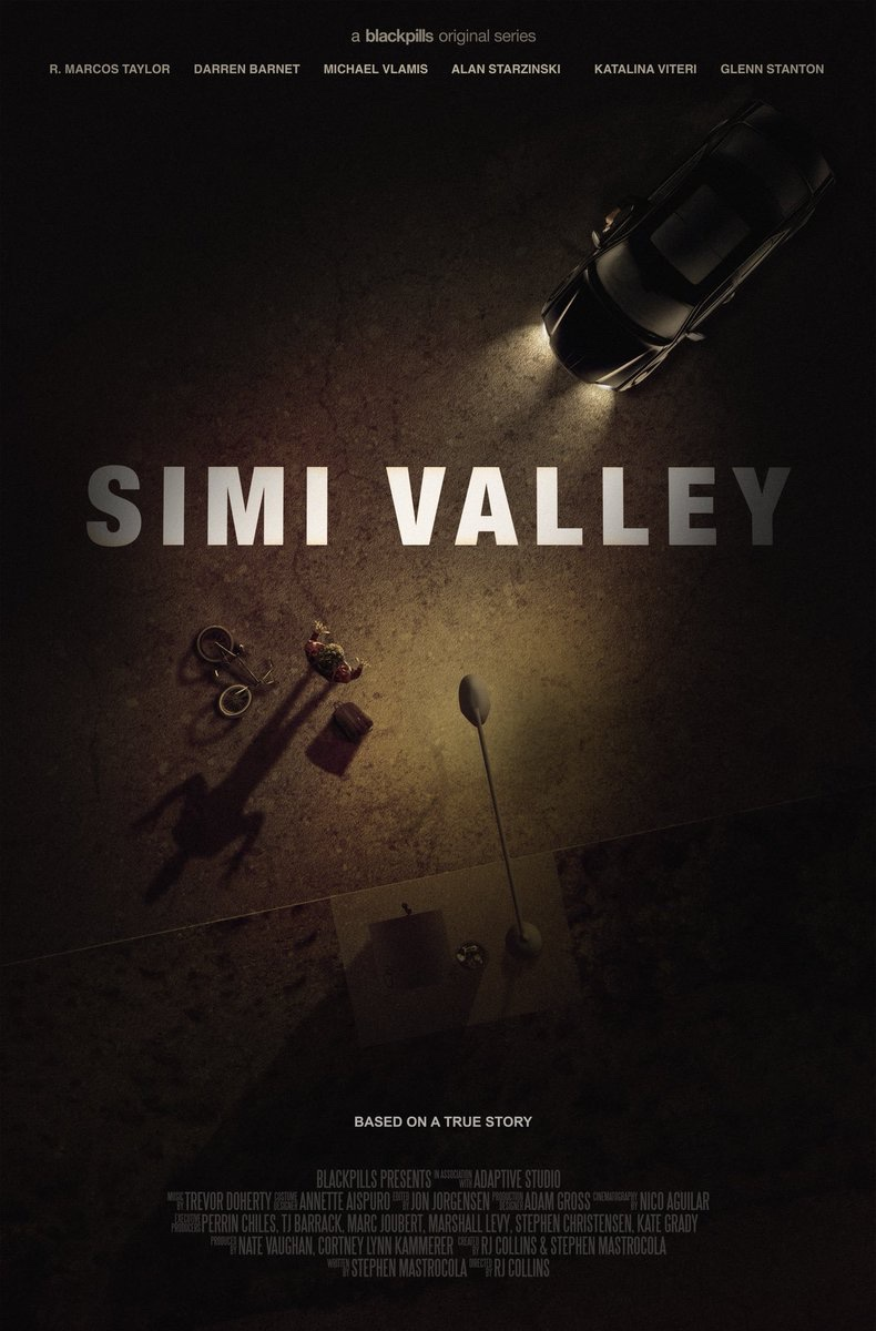 Simi Valley - (Digital series, 2017). Where business trumps loyalty. A handful of high-school kids get involved in the criminal underbelly of Simi Valley, a mundane suburban town in So Cal. Watch on the Blackpills app or see the trailer here. IMDb.