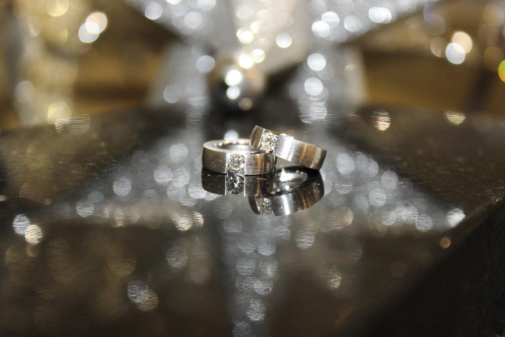 huggie earrings w/diamond accent