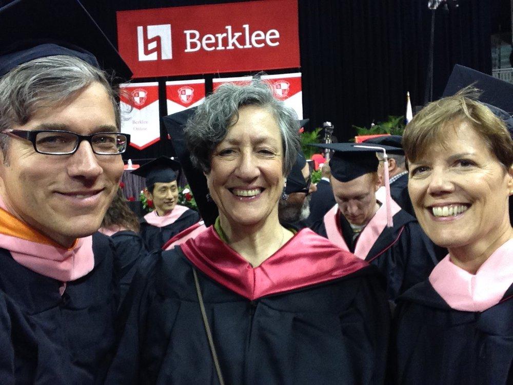Good times at graduation 2017 (L to R: David Scott, Ruthie Ristich and Gaye Tolan Hatfield)