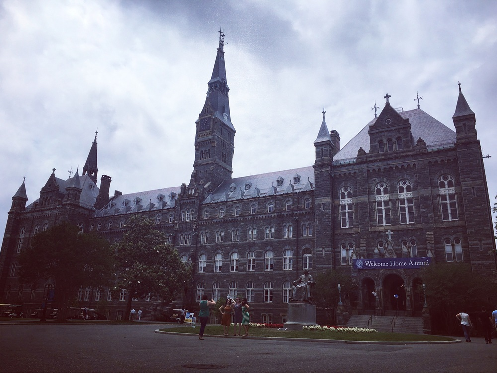 Georgetown's Healy Hall. A US=Hogwarts for the preppy & pompous international set