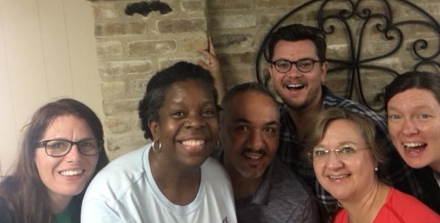 A DOOR staff selfie to celebrate a great staff meeting week in Austin. Pictured (L to R): Heather, Andrea, Juan Pablo, Chad, Rita, & Marie. Danny and Manny were not able to join the festivities.