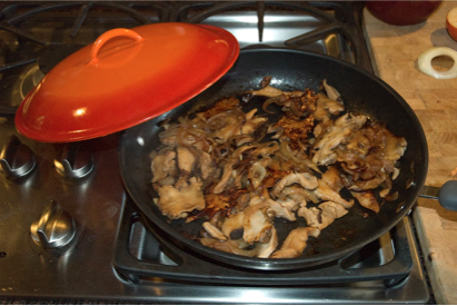 Maitake is delicious when cooked, freeing up nutrients and beneficial properties. I like to cook them until the edges are browned.  Bon Appetit !!!