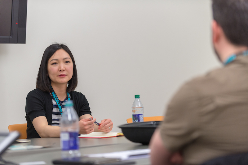 ShareSmart CEO & Co-founder, Rena Tabata, at the 2018 AccelerateAB Startup Advising Sessions