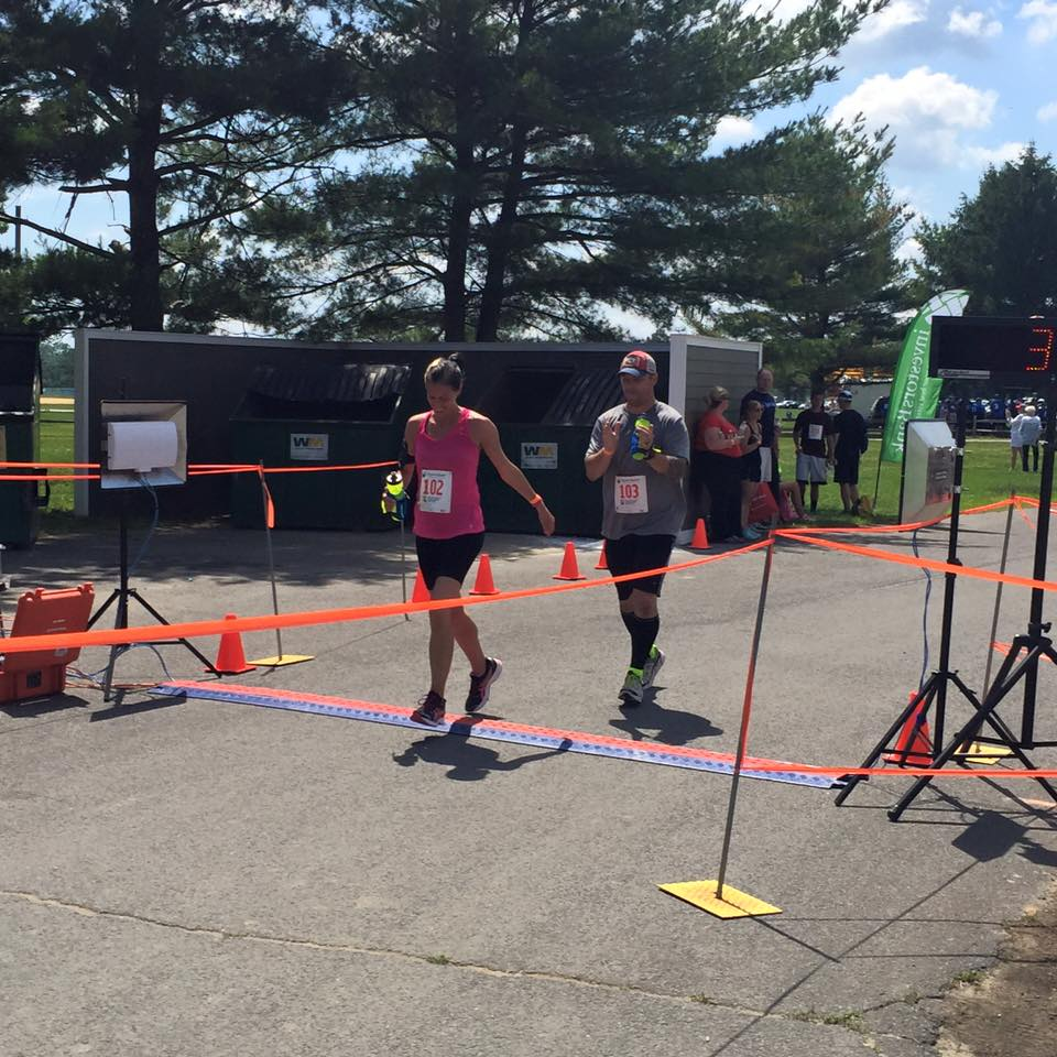 June 14, 2015 - Greg and Christina at the finish line - Ryan's Quest Dash & Bash 5K