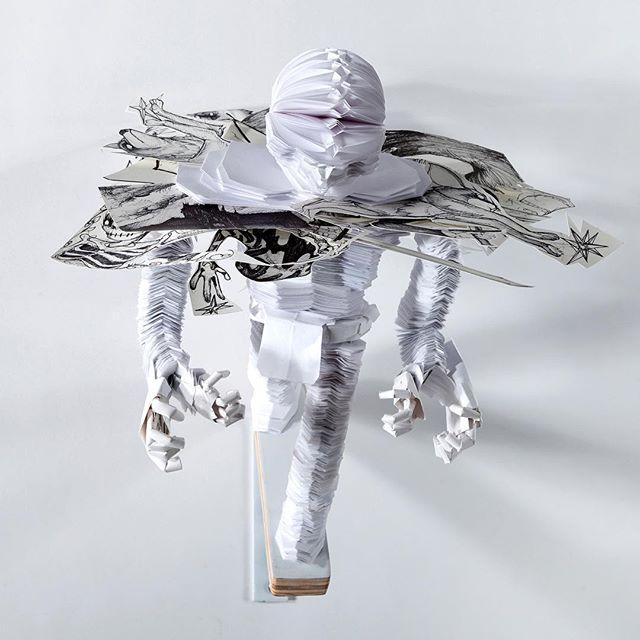 #papersculpture #contemporaryart #mixedmedia #drawing #okthatsbetter
