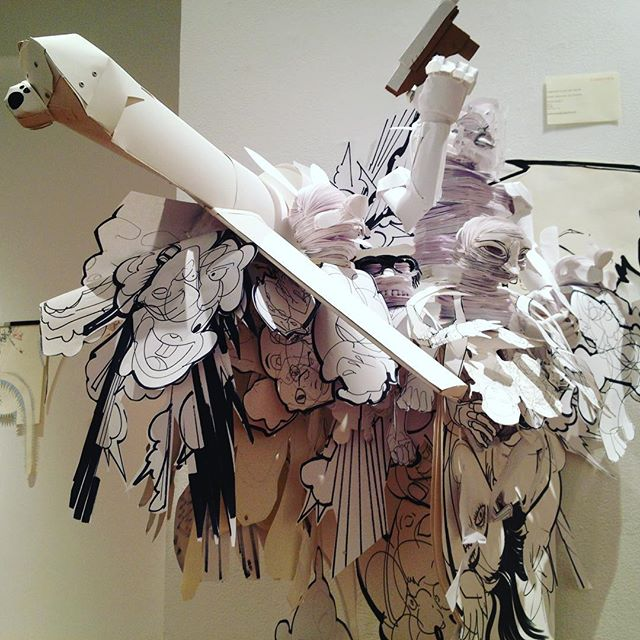 #contemporaryart #art #paperdrone #papersculpture #drawing #cascadeofimages  #mixedmediaart