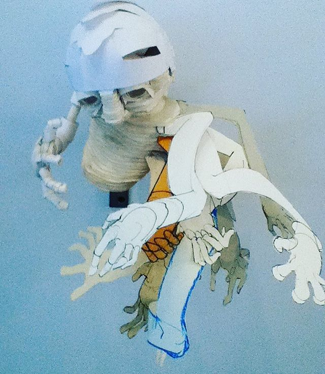 #papersculpture #paperfigure #contemporaryart #visualart #art