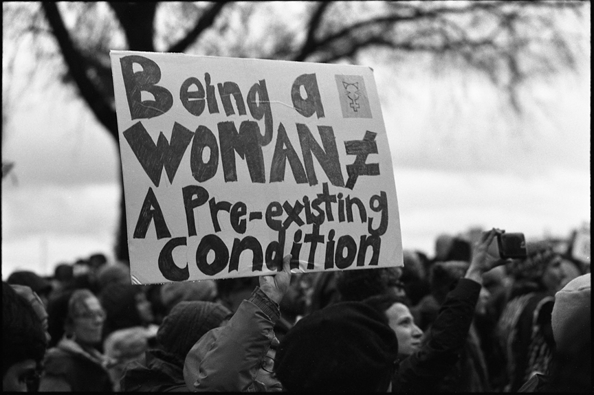 Photographed at the Women's March with an Olympus Trip 35