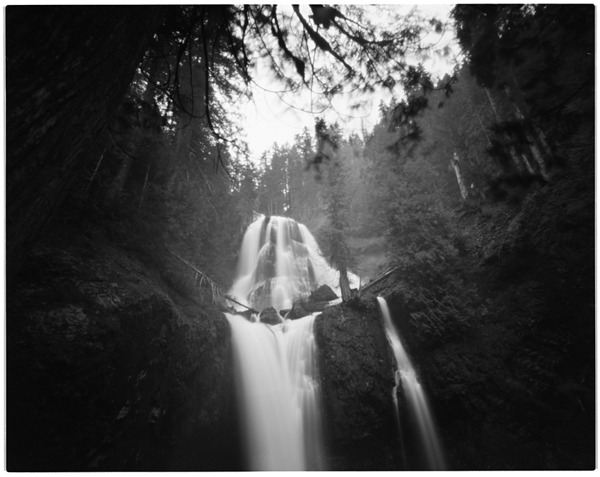 Two minute exposure with an Ilford Titan 4x5 pinhole camera