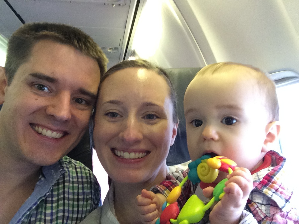Survived our first flight with the baby.