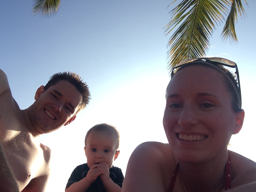 Selfies on the beach.