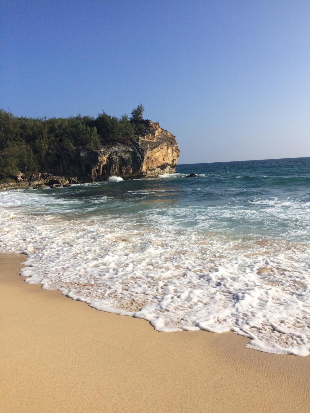 Maha'ulepu beach.