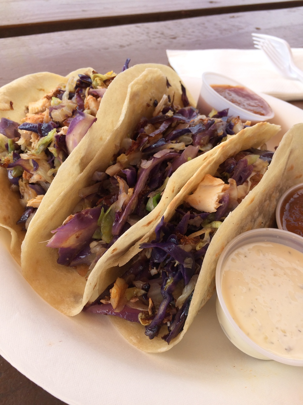 These fish tacos are pretty spectacular @ Island Taco in Waimea.
