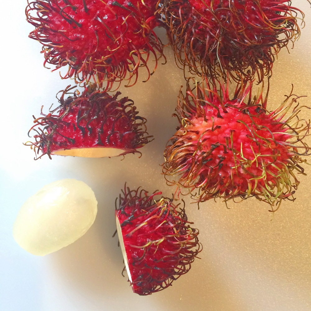 Rambutan snack after our big hike. Nature's candy.