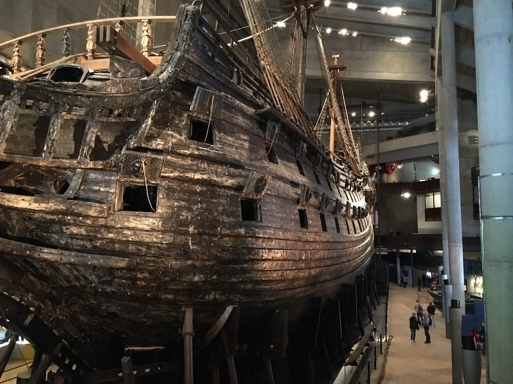 View of the Vasa from the museum entrance