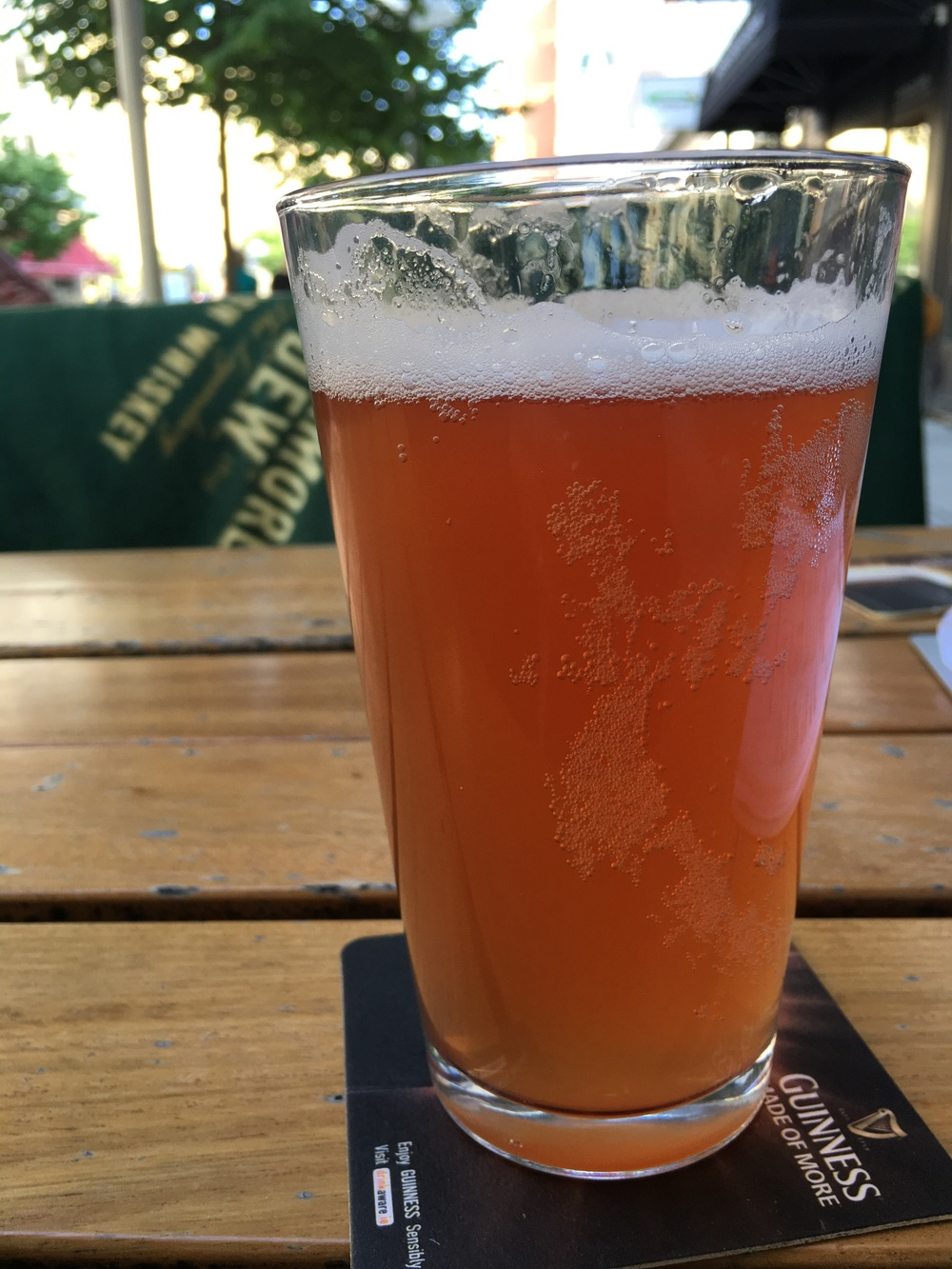 Rhubarb Beer, a specialty of one of the local breweries in Uppsala. Perfect for a very hot day!