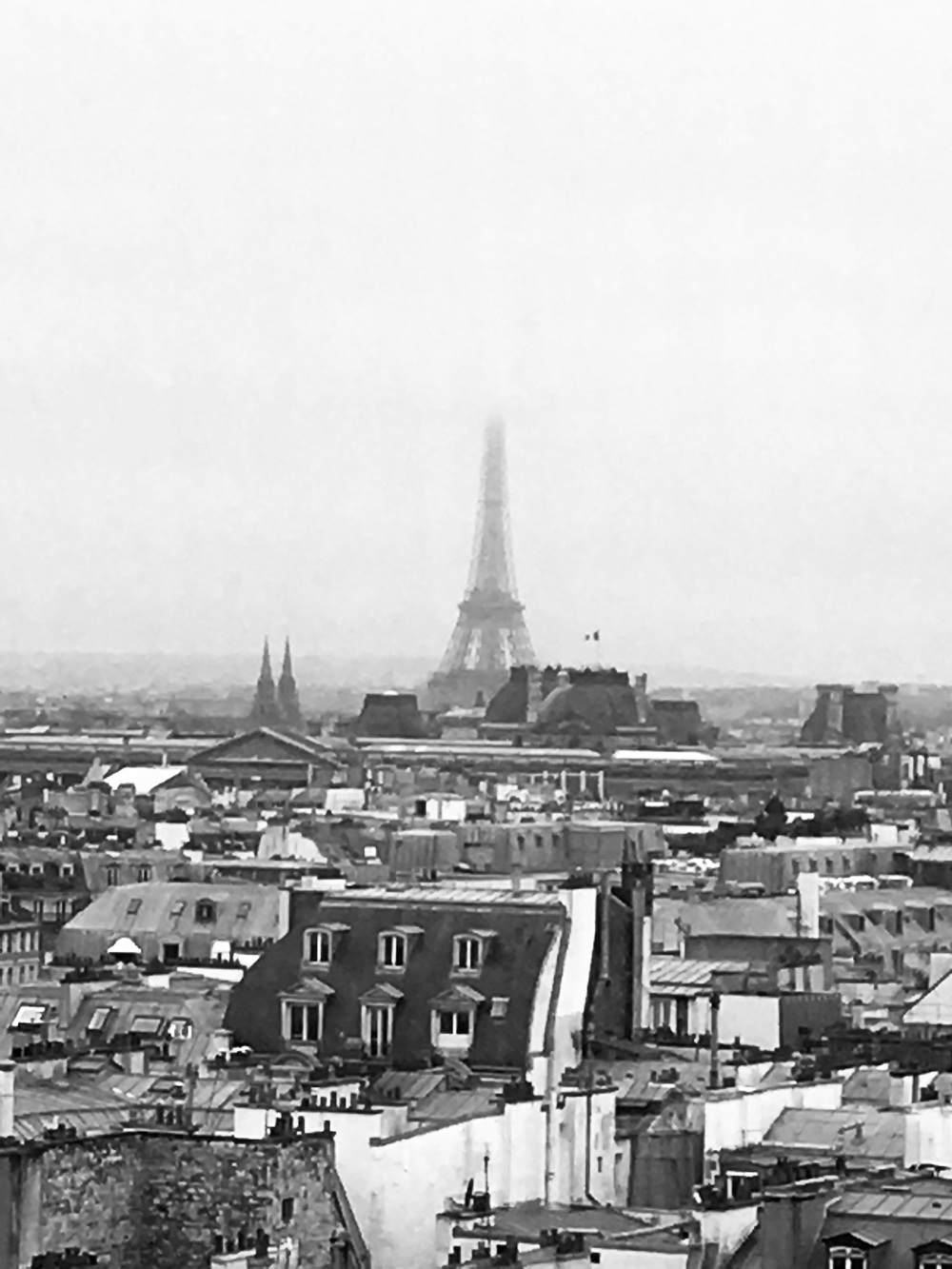 Tour Eiffel, from the top of Centre Pompidou